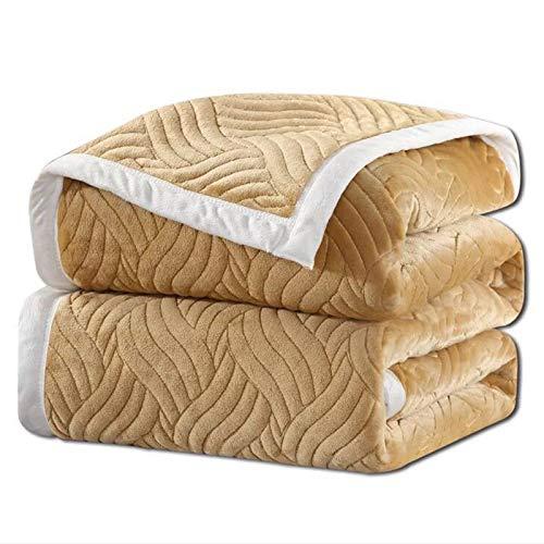 YXYH Manta Suave Toda Temporada Cálido Mantas Lana por Cuarto Sofá Decoración Super Grande Manta Tiro (Color : Khaki, Size : 120x200cm)