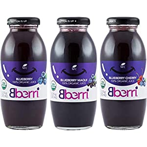 Bberri 100% Organic Juice Variety Pack of 3 x 8.2 fl oz |
