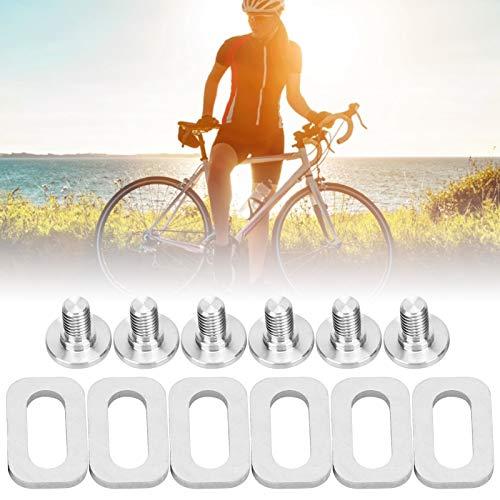 Faceuer Arandelas para calas de Pedal, molienda Fina Calas para Pedales Tornillos de Montaje Durables y Resistentes para calas para Pedales de Bicicleta