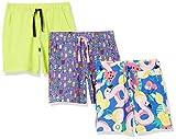 Spotted Zebra Knit Jersey Play Shorts Pantalones Cortos, Paquete de 3 paletas y amperio Fruta, XL
