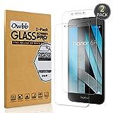 Owbb [2 Pezzi] Vetro Temperato Pellicola Per Honor 6A Smartphone Protettiva Protezione 9H Durezza 99% Alta Trasparente