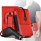 i-Tronixs (Red) Cubot X16 Case (PU) Leather Belt Clip Pouch