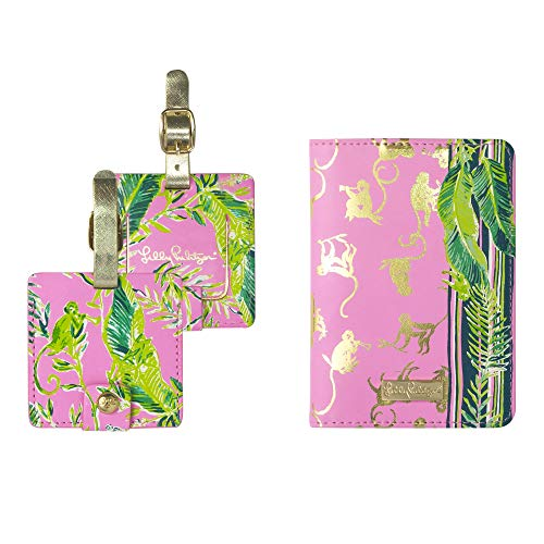 Lilly Pulitzer Travel Set, Passport Cover and Luggage Tags (Chimpoiserie)