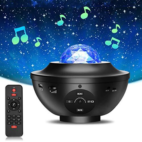 Star Projector, BS ONE Galaxy Projector Halloween Projector, Ocean Wave Night Light Starry Light...