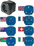 Brennenstuhl Reisestecker-Set / Reiseadapter-Set (Reise- Steckdosenadapter mit verschiedenen Aufsätzen für mehr als 150 Länder (7 x Steckereinsätze) schwarz - 2