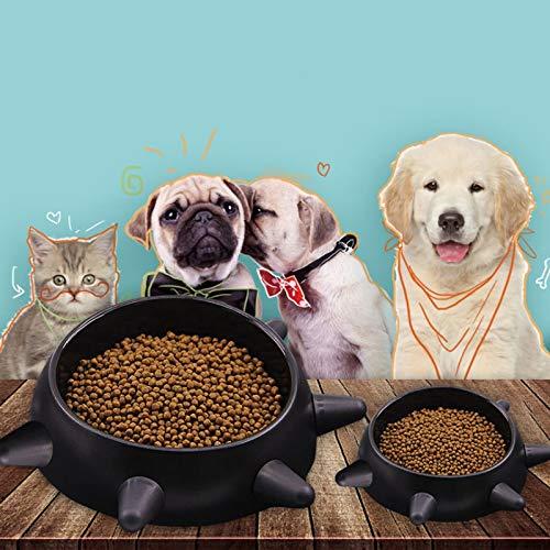 Smklcm hondenmand Rivet anti-slip dog pot dog eating oblique mouth dagelijks gebruik kleine hond Slow food voedsel anti-mijt huisdier-kat 15cm*13cm*6cm