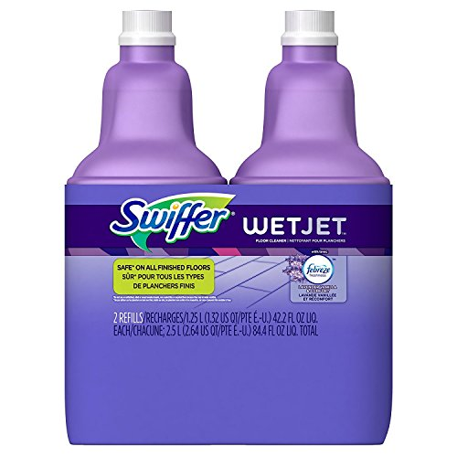 Swiffer Wetjet Spray Mop Floor Cleaner Multi-Purpose Solution Febreze Lavender Comfort Scent 2 Pack Of 42.2 Oz Each