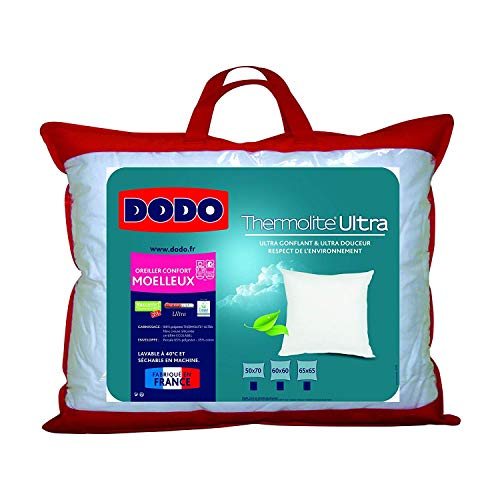 DODO OREILLER MAXICONFORT THERMOLITE ULTRA - MOELLEUX - 60 x 60 cm