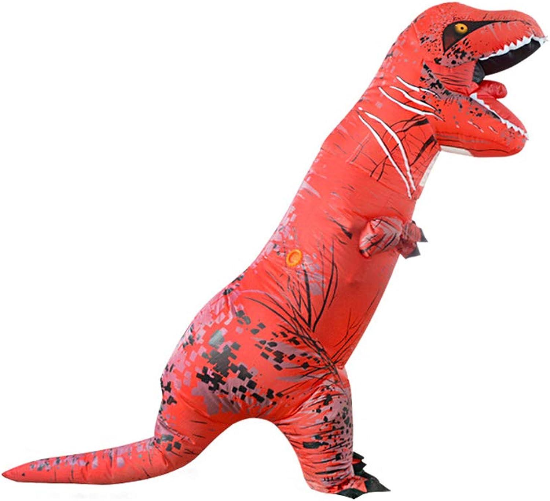 Zhanghaidong Kostüm Aufblasbare Dinosaurier Kostüm Halloween Event Halloween Aufblasbare Dinosaurier Kostüm Aufblasbare Tyrannosaurus Kostüm Rot