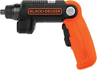 BLACK+DECKER 4 V Máx* Desatornillador inalámbrico con luz LED (BDCSFL20C)