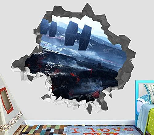 Star Battleship Legend Base de papel Custom Wall Affairs 3D Wall Sticker Art3D MURAL DECORACIÓN DE LA HABITACIÓN Dormitorio Cocina-50x70cm