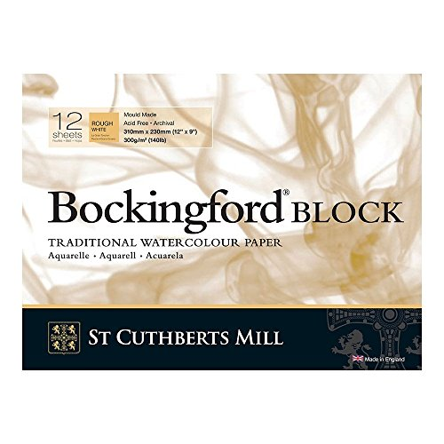 Bockingford 300gsm Block 12' x 9' (23 x 31centimeter) Rough