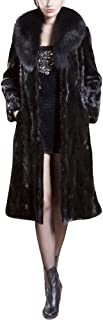 Womens Noble Parka Long Sleeve Turn-Down Collar Zipper Pocket Brown Trim Velvet Solid Top Thicker Outwear Coat