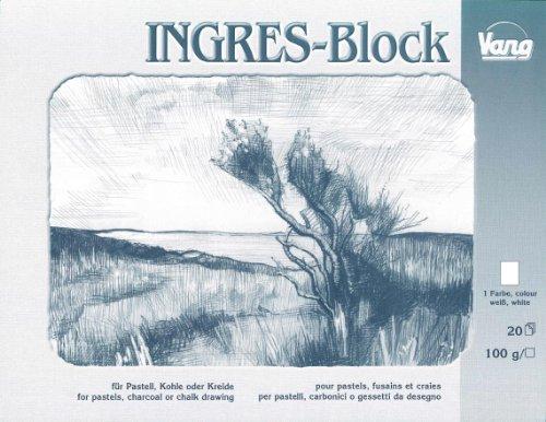 Ingres Block für Pastell Kohle & Kreide weiß 100 g/m² 31x41cm 20 Blatt