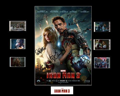 Le poster Iron Man 3 avec autographes et extraits de pellicule