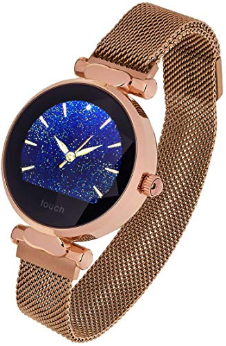 Garett Electronics Frauen Lisa Stahl Smartwatch, Gold 5903246282832