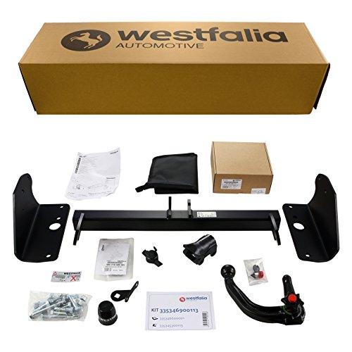 Westfalia Abnehmbare Anhängerkupplung - AHK für Toyota Avensis Wagon-Kombi (ab BJ 01/2009) im Set mit 13-poligem fahrzeugspezifischen Elektrosatz