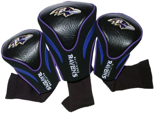 NFL Baltimore Ravens 3 Pack Contour Fit Headcover