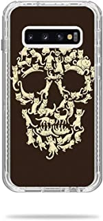 MightySkins Skin Compatible with Lifeproof Next Case Samsung Galaxy S10 - Cat Skull | Protective, Durable, and Unique Vinyl Decal wrap Cover | Easy to Apply, Remove | Made in The USA