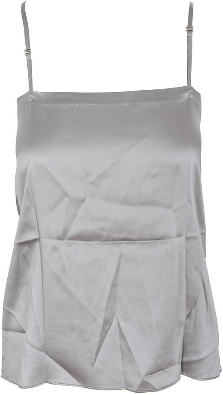 Brunello Cucinelli Top Women's Silver Cotton Casual M IT