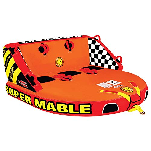 SportsStuff Super Mable | 13 Rider Towable Tube for Boating Orange Red Yellow