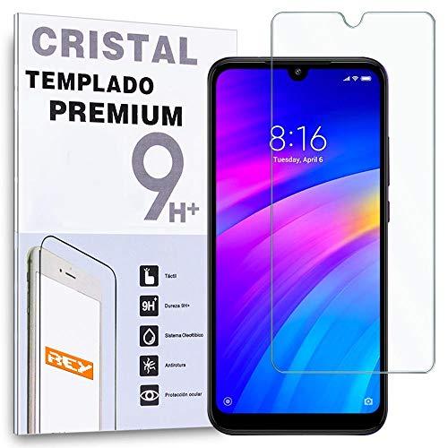 - Protector de Pantalla para XIAOMI REDMI 7, Cristal Vidrio Templado Premium