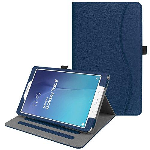 """custodia per tablet samsung galaxy tab e FINTIE Custodia per Samsung Galaxy Tab E 9.6 - [Multi-angli] Slim Fit Folio Smart Pieghevole Case Cover con Funzione Sleep/Wake per Samsung Galaxy Tab E 9.6"""" SM-T560 SM-T561"""