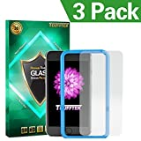 iPhone 6 Plus Screen Protector, Toufftek 3-Pack 0.2mm HD [Tempered Glass] Screen Protector with Film Pasting Tool for iPhone 6S Plus 5.5 inch (I6PB)
