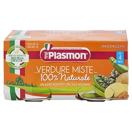 Plasmon Omogeneizzato di Verdure Miste, 2 x 80 g