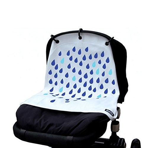 Kurtis K-BP023 Baby Peace Rideau pour Poussette Innovant & Fonctionnel Pluie Blanc & Bleu