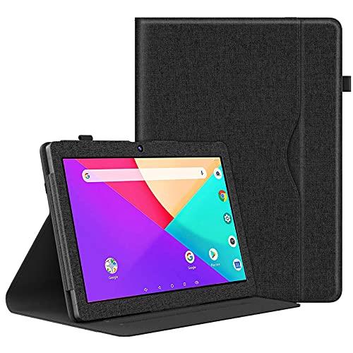 Dragon Touch K10 ケース ATiC Dragon Touch タブレット 10.1インチ カバー 軽量 薄型 スタンド 全面保護カバー スマートケース Black