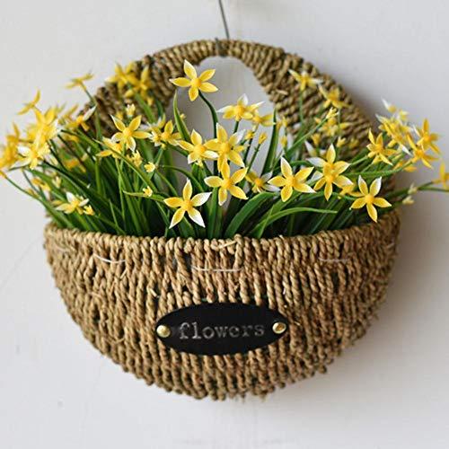 Luckyx Pot de fleurs à suspendre - Tissé à la main - Pour l'intérieur et l'extérieur - Panier de fleurs décoratif