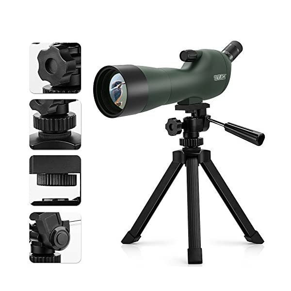 Emarth 20-60x60AE Spotting Scope Waterproof Fogproof 45-Degree Angled Eyepiece Spotting Scopes with Tripod,Optics Zoom 39-19m/1000m for Target Shooting Bird Watching Hunting Archery Wildlife Scenery