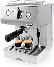 Saachi Coffee Maker with 15 Bar Automatic Steam Pressure Pump, Silver