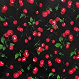 Zen Creative Designs Paisley Floral Bandana Head Wrap & Scarf/Face Cover & Mask for Dust and Debris Perfect for Outdoor Events/Burning Man/Hiking Trails (14' x 14', Cherries Black) Pack of Two
