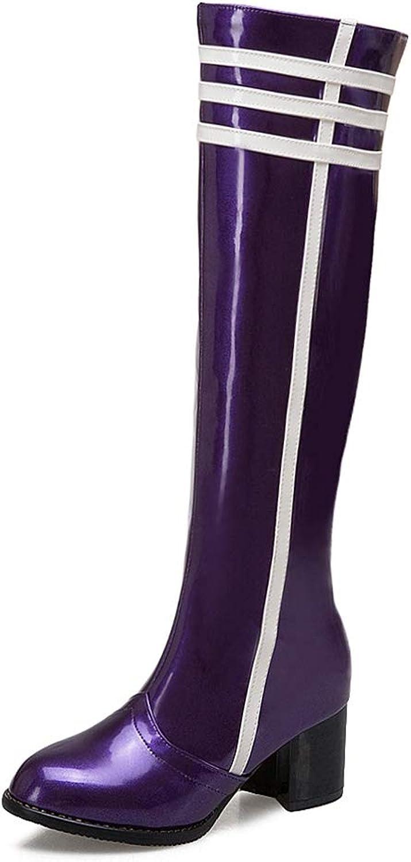 T-JULY Women's Fashion Winter shoes Girls Waterproof Knee High Bootie Plus Size 34-48