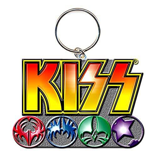 Rock Off - Kiss porte-clés métal Logo & Icons