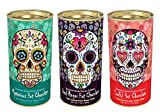 Sugar Skull Day of the Dead Hot Chocolate 3 Decorative Tins Double Chocolate Flavor