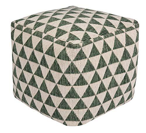 bougari zitpoef voor binnen en buiten Kalahari gevuld met polystyreen bolletjes KALAHARI 48x48x42 cm Groen crème