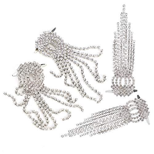 Clips para zapatos de boda, accesorios de botas de mujer sin olor y anti-desgaste para collares colgantes