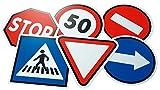 Henbea- Pack de 6 Juegos de señales de tráfico (943)