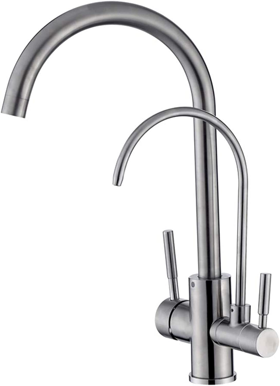 Multifunctional Sus304 Stainless Steel Kitchen Straight Drinking Pure Water Cold Water Faucet, Dual-Use Two In One