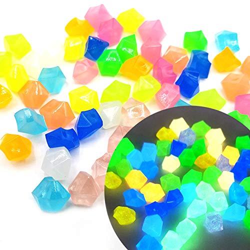 Piedras Luminosas, 300 PCS Piedras Luminosas Jardín, Piedras Decorativas Fluorescentes Decorativas...
