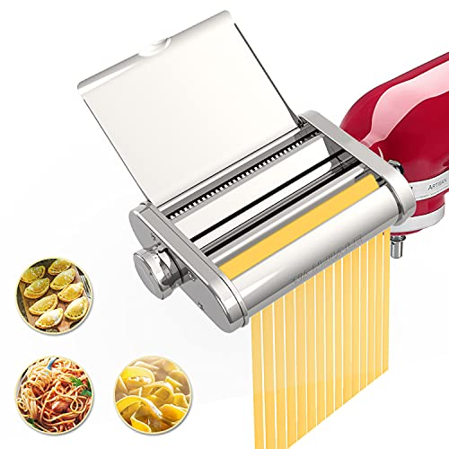 Pasta Maker Attachment 3 in 1 Set for KitchenAid Stand Mixers,...