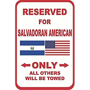Salvadoran American Reserved For 12X18 Vinyl Stickers Sign Self-adhesive Lables Sticker Decal Signs Funny 8x12 In