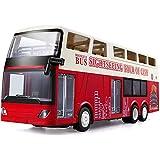 WGFGXQ RC Bus, autobús turístico de Dos Pisos con Control Remoto de 2,4G, Modelo de Mini autobús Urbano con Puerta de Control Remoto, Regalo de Juguete de autobús RC para niños
