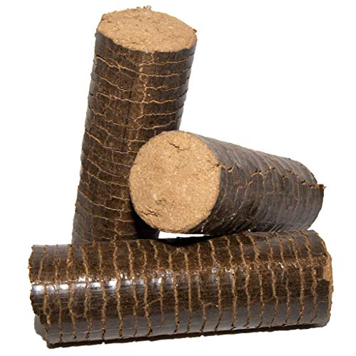 Hartholzbriketts aus Eichen- und Buchenholzspänen ohne Rinde, Durchmesser 7,5 cm, VE = 10 Stück / 12 Kg