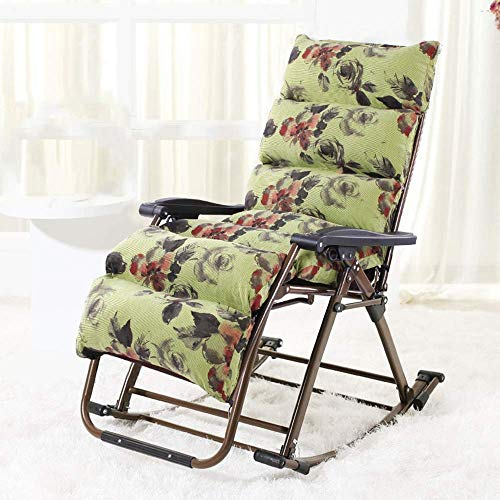 no brand Chaise Longue Canapé balançoire Fauteuil Chaise Pliante de Meubles de Jardin en Plein air balancelle président