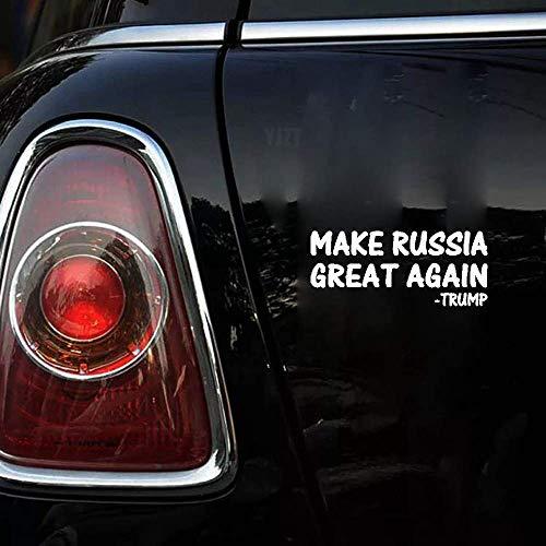 15cmx6.4cm hacen que Rusia vuelva a ser genial trump etiqueta engomada del coche calcomanías etiquetas engomadas del coche para la etiqueta engomada de la ventana del ordenador portátil del coche