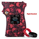 SMOK MAG 225W Mod Right Handed Case Cover Protective Silicone Case Skin Cover Sleeves for Right-Handed SMOK Mag 225W TC Box Mod (Skull Red)